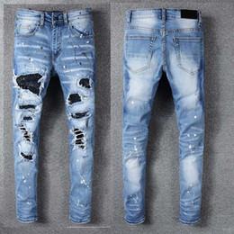 Mens Designer Calças Novo Estilo Casual Skinny Sweatpants Mens Jeans Designer Gota Virilha Jogging Calças Calças De Brim Dos Homens em Promoção