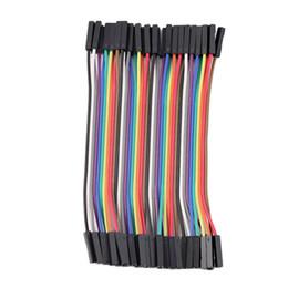 Venta al por mayor de 40 unids / Fila 10 cm 2.54mm Hembra a Hembra Cable Jumper Cable 1P-1P Para Arduino al por mayor