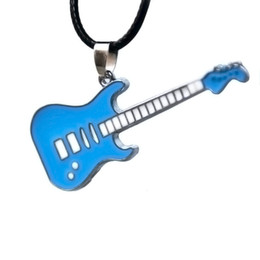 Color guitar strings online shopping - Fashion Man Necklace Black Adjustable Wax String Lovers Ornaments Keepsake With Fund Guitar Series Multi Color