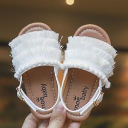 $enCountryForm.capitalKeyWord Australia - Children kids tassels sandals princess shoes cute baby Girl soft bottom Beach Shoes 3 color antil-slip soft sole summer