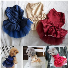 jeans for small dogs Australia - Summer Dog Dress Pet Dog Clothes for Small Dog Wedding Dress Skirt Puppy Clothing Spring Fashion Jean Pet Clothes XS-XXL GB1184