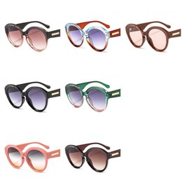 Sun wearing glaSSeS online shopping - Translucency Splicing Sunglasses Circular Sun Glass Men And Women Gradient Colors Mix Popular Wear Resistant jh F1