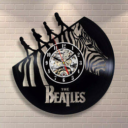 Christmas Clock Music NZ - 2019 the Beatles Cute Funny Art Vinyl Clock Decoration Gift Modern Idea Home Art Party Night Music Party Fans Christmas Gift