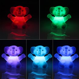 $enCountryForm.capitalKeyWord Australia - Elephant Night Light Color Changing Atmosphere Lamp Bedroom Decoration for Kid Baby Bedside Children bulb animal art emergency