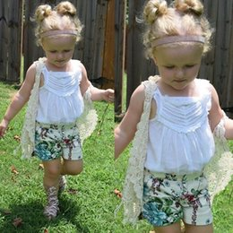 Baby Lace Crochet Shorts Australia - baby girl kids floral crochet vest crocheted hollow lace knitted shawl robe coat cardigan Poncho tops Cute tassels fringed