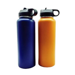 $enCountryForm.capitalKeyWord Australia - 40oz Vacuum water bottle Insulated 304 Stainless Steel Water Bottle Wide Mouth big capacity travel water bottles With Filp Lids