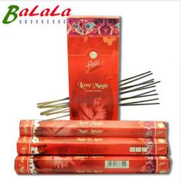 120 Sticks / Pack Love Magic Aroma Lax Cored Stick Weihrauch handgefertigt aus indischen Brennen im Büro für Yoga