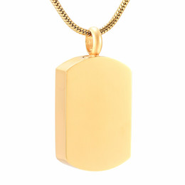 $enCountryForm.capitalKeyWord Australia - IJD9118 Solid 316L Stainless Steel Blank Dog Tag Cremation Pendant Engravable Memorial Urn Ashes Keepsake Jewellery For Women