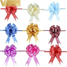 pull bows Canada - 12pcs 30mmx120cm Pull Bows Wedding Car Decoration Christmas Gift Wrap Wedding Birthday Party Decor Valentines Supplies