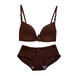 511493c142 Fashion Women Girls Sexy Seamless Thin Push Up Bra Panties Underwear Set  Lingerie (32AB