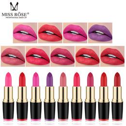 Orange lip online shopping - MISS ROSE Lipstick Matte Waterproof Make Up Long Lasting Lip Stick Colors Easy To Wear Lipstick Lips Makeup Mate Lipstick