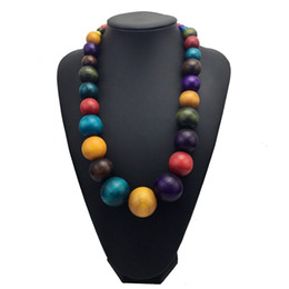 $enCountryForm.capitalKeyWord Australia - Fashion Bohemia Colorful Unique Wood Beads Exaggerated Necklace For Women Statement Necklace Jewelry Accessories