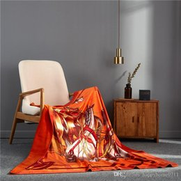 Christmas Bedding Luxury NZ - Luxury designer brand H comfortable bedding and outdoor blanket creative patterns blanket shawl Christmas new Year warm gift 2019