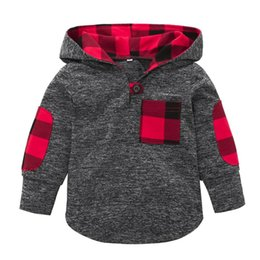 PoPular kids clothing brands online shopping - 2018 NEW Fashion Popular Toddler Kid Baby Girl Plaid Hoodie Pocket Sweatshirt Pullover Tops Warm Clothes Baby Hoodies