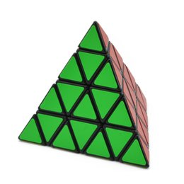 China Four Steps Pyramid Magic Cube Solid Color 4 In Order To Smooth Triangle Magic Cube Student Alpinia Oxyphylla Power Toys cheap toy triangle puzzle suppliers
