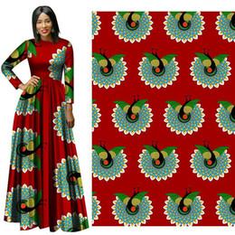 Cheap Fabric Wholesalers Australia - Latest Pretty Peacock Ankara African Wax Print Fabric new Wax Hollandais Cotton Fabric Cheap-Fabrics for Wedding