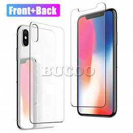 Iphone Back Glasses Australia - For iPhone XS MAX XR Back Tempered Glass Ultra Thin 9H Back Screen Protector for iPhone 5 6 7 8 plus XS MAX Without Packaging