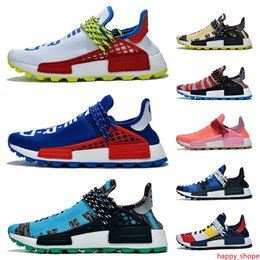 trail trainers UK - 2019 Pharrell williams NMD Human Race Solar Pack Trail Infinite Species Reflective BBC Blue Red Green Plaid Top Quality Trainers Sneakers