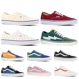 941953184f New Cheap Brand Vans old skool fear of god men women canvas sneakers classic  black white YACHT CLUB red blue fashion skate casual shoes