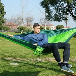 Wholesale New Outdoor double Hammock Portable Parachute Cloth Person hamaca hamak rede Garden hanging chair sleeping travel swing
