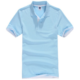 Polo Sportswear NZ - Men Polo Shirt Polos Mens Cotton Short Sleeve Shirt Sportswear Jerseys Golftennis Solid Polo Shirt Camisa Brand Clothing
