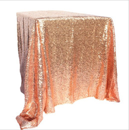 $enCountryForm.capitalKeyWord Australia - Table Cloth100*150cm Hotel wedding square tablecloth Gold silver champagne tablecloth Sequins PE party layout wedding props Polyester fibre