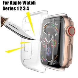 Apple Smart Watch 42mm Australia - Crystal Protective Cover Clear Ultra Thin PC Protective Case Rubber Silicone Cover For Apple Watch Series 4 3 2 1 iwatch 42mm 38mm 44mm 40mm