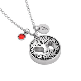 memorial trees 2019 - IJMD0008 Stainless Steel Tree of Life Pendant Cremation Memorial Pendant for Ashes Urn Souvenir Keepsake Necklace Jewelr