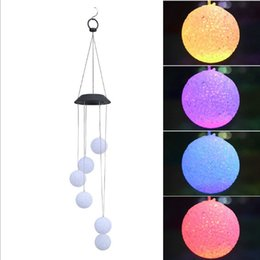 $enCountryForm.capitalKeyWord Australia - Color Changing Solar Power Wind Chime Spiral Spinner Crystal Ball Portable Waterproof Outdoor Romantic Wind Bell Light for Patio Yard Garden