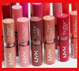 Nyx Butter Lipstick UK - NYX Butter Lipstick 12 Colors Batom Mate Waterproof Long-lasting Lipstick Lip Gloss nyx Brand lip Makeup
