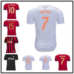 341b6979c49 New 2019 2020 Atlanta United FC Soccer Jerseys 10 ALMIRON 16 MCCANN 15  VILLALBA 7 MARTINEZ GARZA Custom Home Red White Black Football Shirt