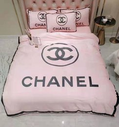 Bedding fashion quilt online shopping - Chic Branded Warm Letter Print Quilt Fashion Warm Bedroom Cotton Home Bedding Sets Duvet Cover CM Sheets Pillowcase