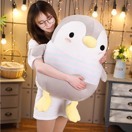 stuffed animal stuffing Canada - Giant Soft Fat Penguin Plush Toys Stuffed Cartoon Animal Doll Fashion Toy for Kids Baby Lovely Girls Christmas Birthday Gift Y200111