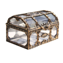 Plastic Pirate online shopping - Treasure Box Plastic Storage Box Pirate Treasure Chest Chest for Gem Collectibles Jewelry Crystal Candy Box