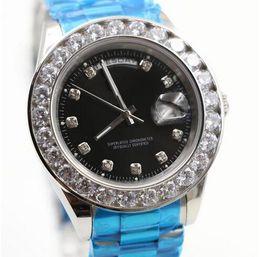 Diamond Man Watch Sale Australia - Hot Sale Luxury Wristwatch Stainless Steel Bracelet President White Bigger Diamond Dial Ceramic Bezel Mechanical Men watch reloj Watches