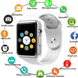 $enCountryForm.capitalKeyWord NZ - Top Bluetooth Smart Watch A1 Watch Sport Pedometer with SIM Camera Smart Child Child Baby Android Smartphone