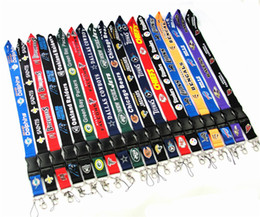$enCountryForm.capitalKeyWord Australia - Cell Phone Straps Rugby Team Charms For Dallas Cowboy Sling Lanyard Key Chains Webbing Card Work Lifting Rope Hanging Ornaments 38 Color DHL