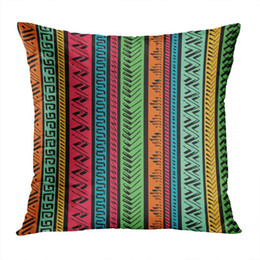 velvet chairs Canada - Tribal Throw Pillow Cushion Cover Abstract Ethnic Soft Velvet Square Cushion Case Couch Cover Pillowcase For Sofa Chair Bedroom