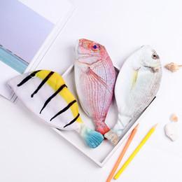 $enCountryForm.capitalKeyWord Australia - Creative Travel Ladies Women Cosmetic Bag Fish Shape 3D Printing Makeup Bags With Multicolor Pattern Cute Cosmetics