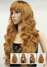 $enCountryForm.capitalKeyWord Australia - Cosplay Harajuku Anime Hot WOMENS FULL WIG Blonde Sexy Strawberry Long Wavy Wig for women wigs