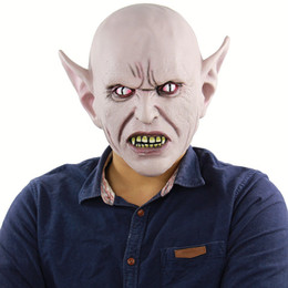 creepy cosplay NZ - Halloween Horrible Full Head Toothy Monster Mask Latex Scary Creepy ET Masks for Masquerade Costume Cosplay Party Props Fancy Dress