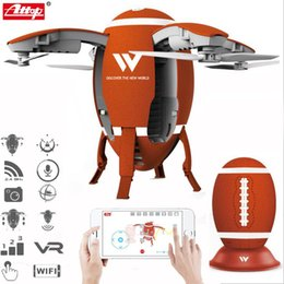 Wifi Electric Australia - Attop W5 2.4GHz Foldable Flying Egg Drone WIFI FPV Foldable Selfie Drone RC Quadcopter with 0.3MP Camera Altitude Hold 3D Flips