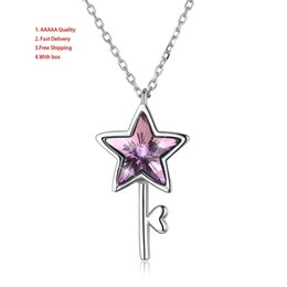 Star Pearl Pendant Australia - Star Red Pendant Necklaces Svn289 Heart Easter Swarovski Elements Vintage Choker Necklaces Sterling Silver Angel Wings High Quality Jewelry