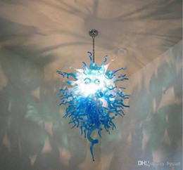 living room chandeliers china Canada - Hand Blown Glass Arts&Craft Chandelier Contemporary Living Room Led Pendant Light China Supplier Colored Hand Blown Glass pendant light