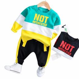 $enCountryForm.capitalKeyWord Australia - 2019 Spring Baby Girl Boy Clothing Infant Clothes Suits Casual Sport Cotton T Shirt Pants 2PCS Sets Kid Child Toddler