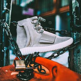 Boot Grey Australia - designer shoes Kanye West 750 Boots Mens Glow Dark Light Grey Triple Black High Ankle Sport Shoes women Sneaker Skateboard Shoes size 36-46