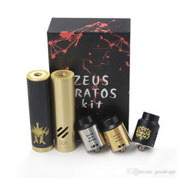 gold mod Canada - Newest zeus kratos kit Full mechanical mod zeus-kratos with rda atomizer and extra wide bore drip tip ss black gold