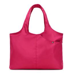 Nylon Totes Bags Australia - New Women Handbag Casual Large Shoulder Bag Fashion Nylon Big Capacity Tote Purple Bags Waterproof Bolsas