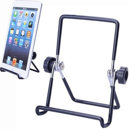 Wholesale Metal Tablet PC Stand Mount Holder Foldable Multi angle Non slip For iPad air1 Mini for iphone x xs max with Package