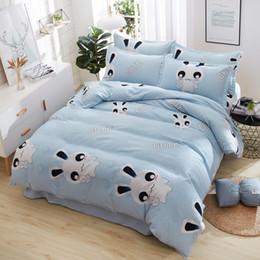 Discount girls twin size bedding sets - Gray stripe Bedding Set Kid Girls Adult Linen Soft Duvet Cover Pillowcase Bed Sheet fit sheet twin Queen king size 4pcs